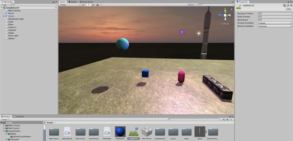 Создание игр на Unity - Настраиваем физический материал