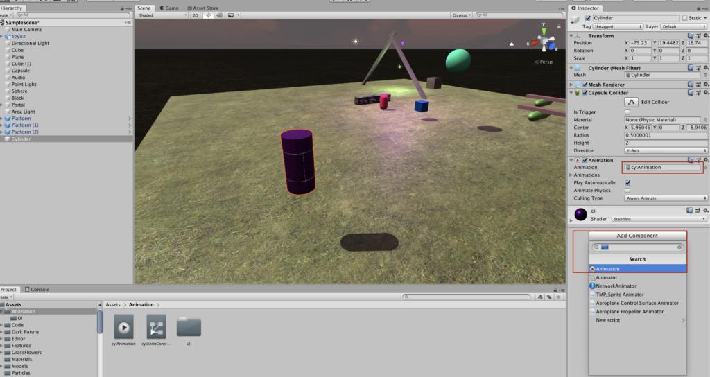 Как создать анимацию и добавить ее на объект в Unity